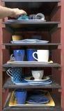 Cafeteria tray shelf Royalty Free Stock Photo