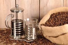 Cafetiere Of Coffee Royalty Free Stock Images