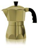 Cafetiere do ouro italiano ilustração do vetor