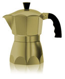 Cafetiere do ouro italiano Imagens de Stock