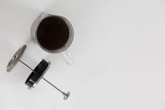 Cafetiere plunger with jug Stock Photo