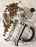 Cafetiere Spill Stock Photography