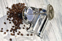 Cafetiere Spill Stock Images