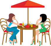 cafevänner två Arkivfoto