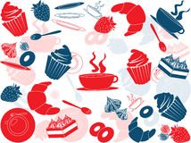 cafevektor stock illustrationer