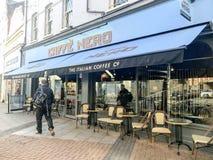 Caffè Nero sklep, London zdjęcia royalty free