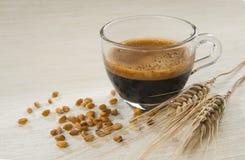 Caffè d'orzo e spighe 库存图片