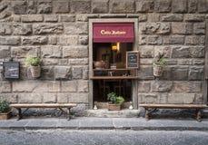 Caffè Italiano antykwarski kawowy bar w Florencja Włochy Obrazy Royalty Free