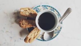 Caffè u. Cantuccini Stockbild