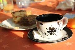 Caffé y torta Foto de archivo libre de regalías