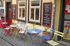 Caffè all'aperto del ponte di Kraemers Fotografia Stock Libera da Diritti