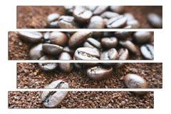 Caffè Art With Coffee Beans & alta qualità dei motivi fotografia stock