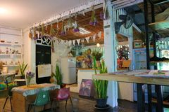 Caffè Art&Gallery di Sudrit Fotografia Stock Libera da Diritti