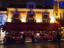 Caffè Au Cadet de Gascogne 4993, Parigi, Francia, 2012 Immagini Stock Libere da Diritti