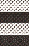 Caffè Bean Seamless Pattern Color Set Fotografia Stock Libera da Diritti