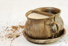 Caffè bianco e nero Fotografia Stock