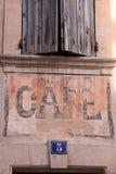 Caffè in Bonnieux Immagine Stock