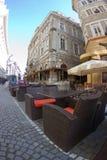 Caffè Bucarest del centro Fotografia Stock