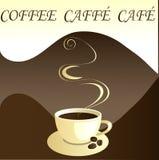 Caffè, caffe, caffè, vettore Immagine Stock