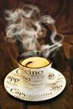 Caffè caldo del cappuccino Fotografia Stock Libera da Diritti
