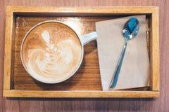 Caffè caldo del latte Immagine Stock