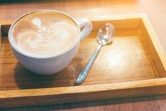 Caffè caldo del latte Immagini Stock Libere da Diritti