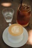 Caffè caldo di arte del cappuccino Immagine Stock