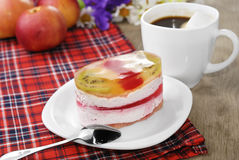 Caffè caldo e dolce saporito Fotografia Stock