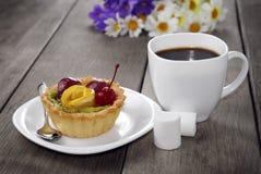 Caffè caldo e dolce saporito Fotografia Stock Libera da Diritti