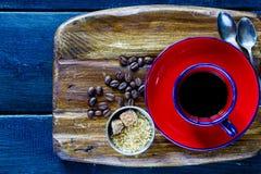 Caffè caldo nero fotografia stock libera da diritti