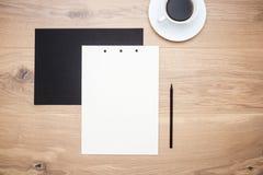 Caffè, carta e matita immagine stock libera da diritti
