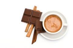 Caffè, cioccolato e cannella immagini stock libere da diritti