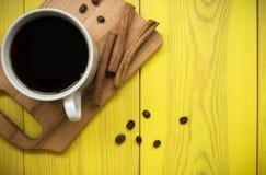 Caffè con cannella Fotografie Stock
