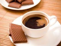 Caffè con cioccolato Fotografie Stock