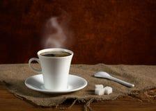 Caffè con fumo Fotografia Stock Libera da Diritti