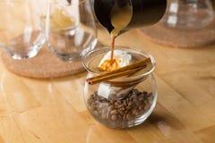 Caffè con gelato alla vaniglia Immagini Stock Libere da Diritti