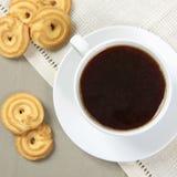 Caffè con i biscotti Immagine Stock