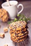 Caffè con i biscotti Fotografia Stock