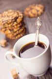 Caffè con i biscotti Fotografia Stock Libera da Diritti