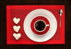 Caffè con i biscotti Immagini Stock Libere da Diritti