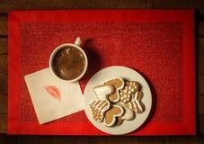 Caffè con i biscotti 4 Fotografia Stock