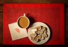 Caffè con i biscotti 3 Fotografia Stock