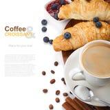 Caffè con i croissant immagine stock