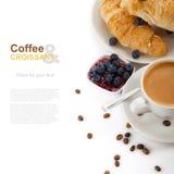 Caffè con i croissant immagine stock libera da diritti