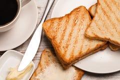Caffè con i pani tostati Immagini Stock Libere da Diritti