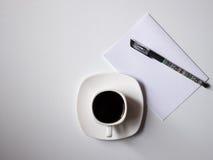Caffè con i piani per il giorno Fotografia Stock Libera da Diritti