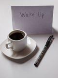 Caffè con i piani per il giorno Fotografia Stock