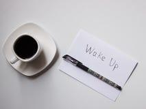Caffè con i piani per il giorno Immagini Stock Libere da Diritti