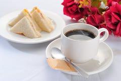 Caffè con il panino Immagini Stock