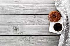 Caffè con la ciambella Immagine Stock Libera da Diritti